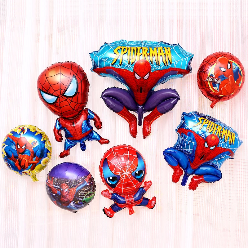 Large spiderman foil balloons big spider man birthday for Spiderman decorations
