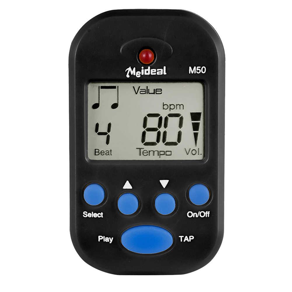 M50 Piano LCD Display Mini Irama Universal Portable Aksesoris Biola Klip Pada Digital Tuner Metronome Gitar Lapangan Generator