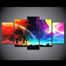 5 Piece HD Canvas Art Painting – Rick and Morty RM5V1