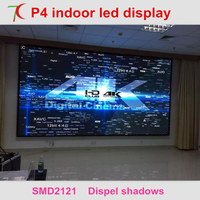 P4 indoor most cost effective led screen video wall widely used in conference, hotel, market ,station,meeting room.
