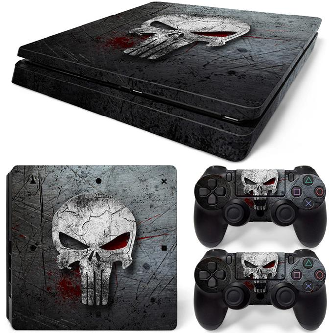 Hot sell Skull Designs Game Decals for PS4 Slim in Stickers from Consumer Electronics