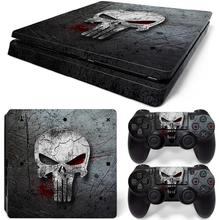 Hot selling Skull designs game decals for PS4 Slim console cheap skin stickers