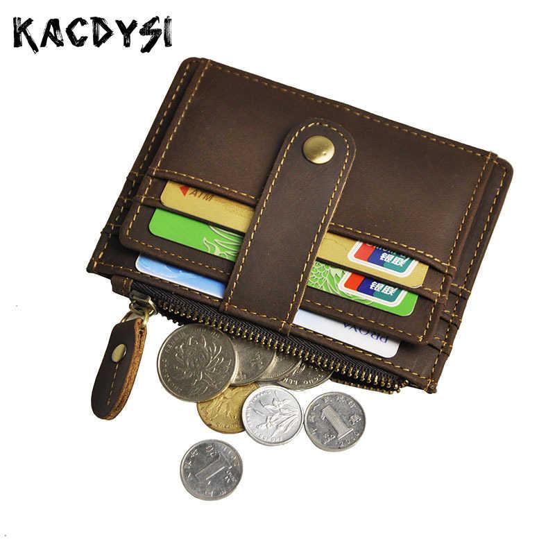 1d17f3cad5e2 Из натуральной кожи ручной работы мужские кошельки мини портмоне маленький  держатель для карт мужской деньги карман