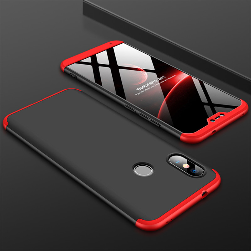 HTB1C6WSXsvrK1Rjy0Feq6ATmVXaV 3-in-1 Case 360 for Xiaomi Mi A2 A3 lite Mi A2 A1 Phone Case Hard for Xiaomi Mi A1 A2 A3 Cover Tempered Glass Case Fully Cover