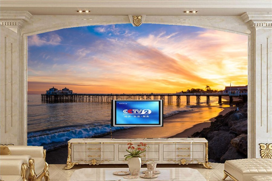 Custom wallpaper for walls 3 d,USA Sunrises and sunsets Nature wallpaper,living room tv sofa background bedroom papel de parede custom 3d mountains sunrises and sunsets forest trees rays of light nature papel de parede living room tv wall bedroom wallpaper