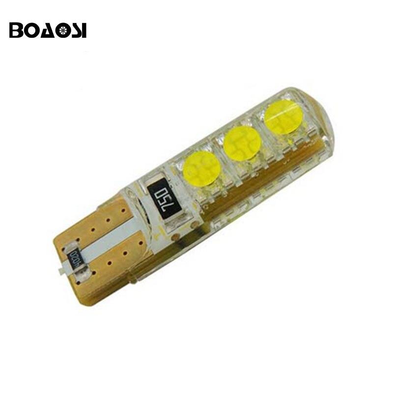 Boaosi 4x <font><b>W5W</b></font> <font><b>LED</b></font> T10 <font><b>5050</b></font> лампы для автомобилей 168 194 силикон Корпуса поворотов Номерной знак ствол лампы Габаритные огни