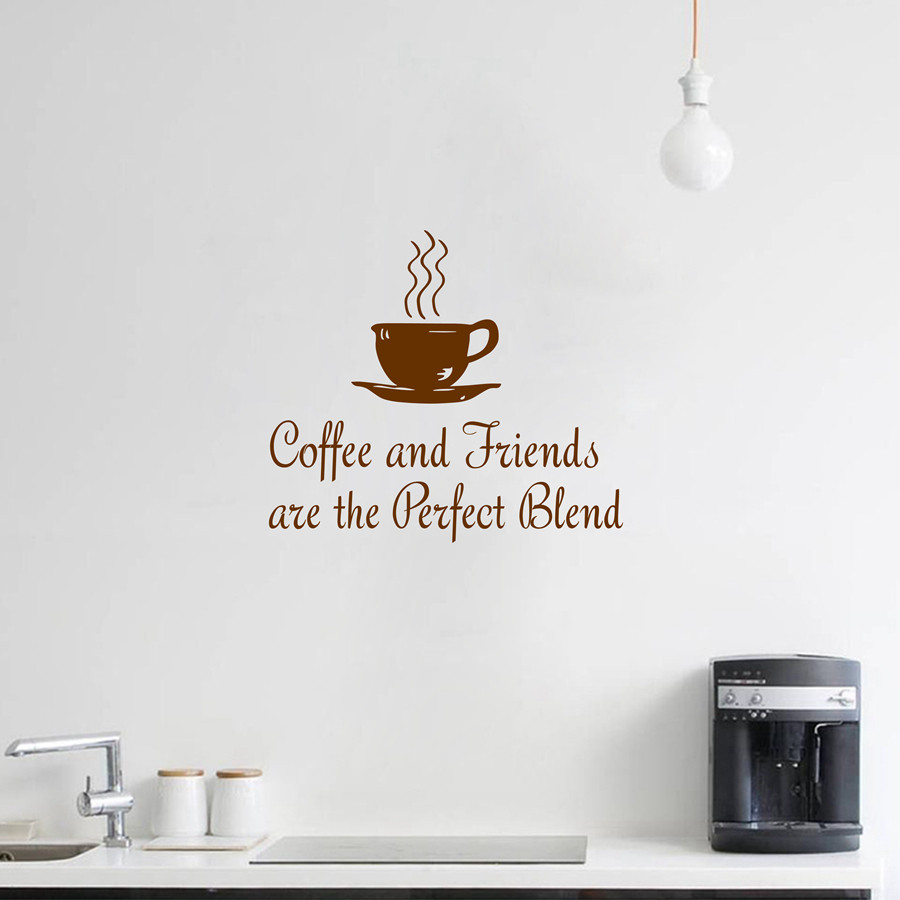 Küche Kaffee Zitate Wandtattoo \