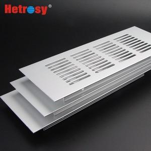 Image 4 - Hetrosy 2PCS Aluminum Rectangular Air Vent Ventilator Grille For Closet Shoe Cabinet Air Conditioner W50/60/80MM Fast Express