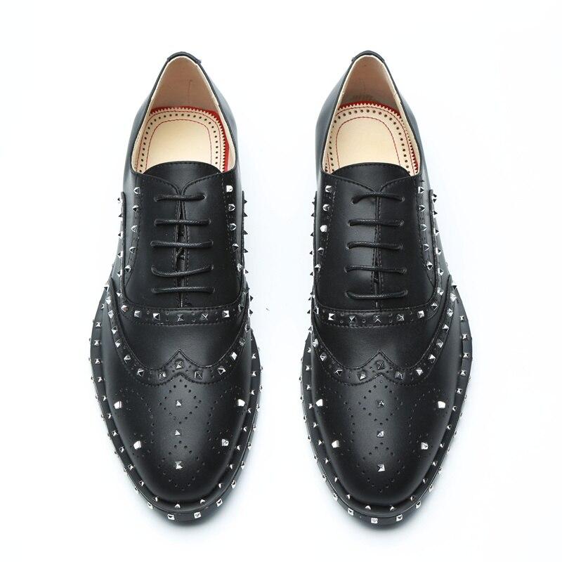 Rivets Chaude D'affaires La Hommes Haute Qualité Lacent Luxe Formelle De Taille As Embelli Avant Cuir Élégant Marque Pic Plus En Chaussures iwkZOTPXu