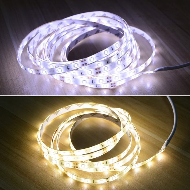 12V Cabinet Light Night Sensor 1M 2M 3M 4M 5M Motion Sensor LED Strip Bedroom Closet Stairs Wardrobe Lamp 110V-220V Power Supply