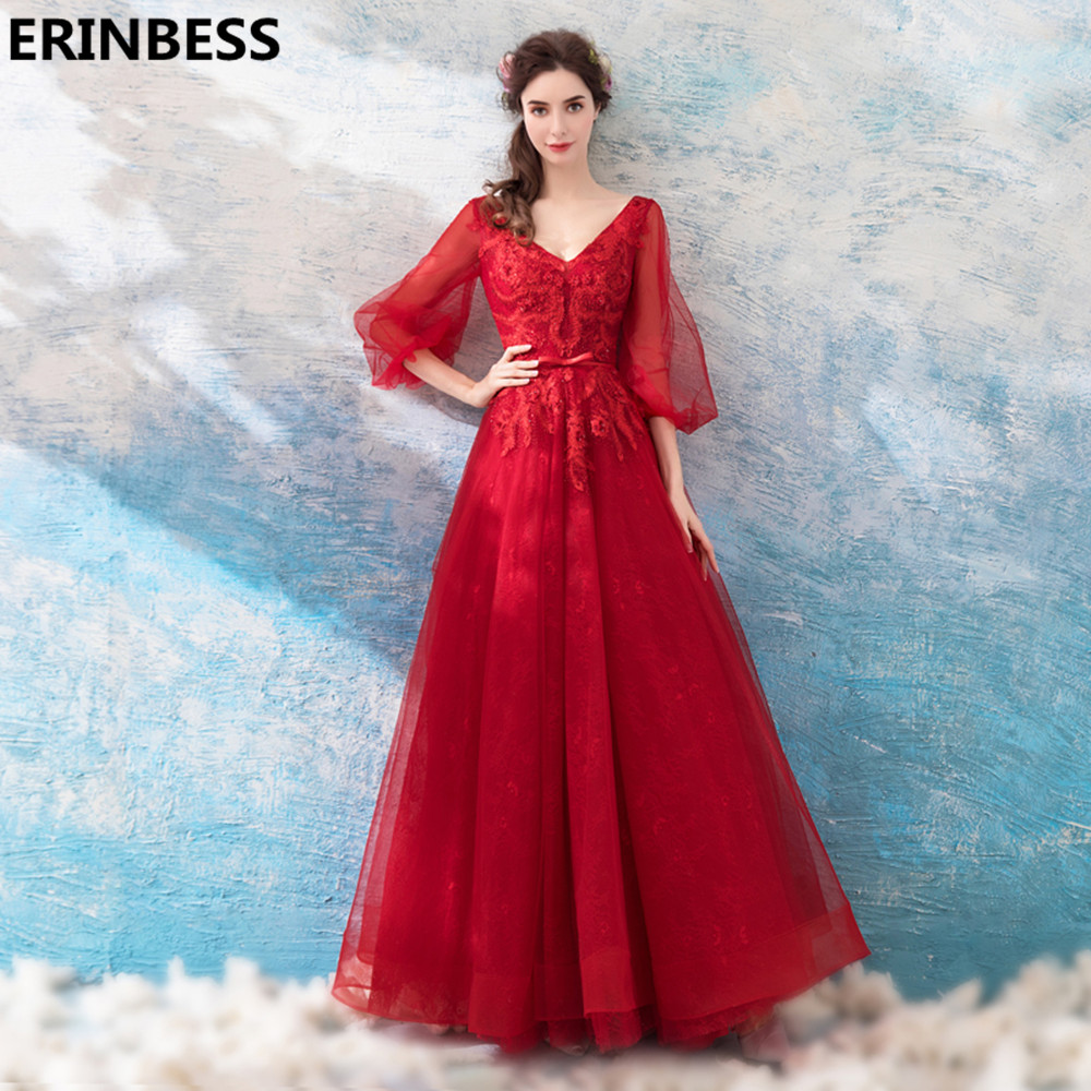 Prom Dresses 2018 Red Tulle Evening Dresses Long Dress Party Gown ...