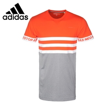 Original New Arrival 2017 Adidas NEO Label M SLOGAN SLV T Men's T-shirts short sleeve Sportswear