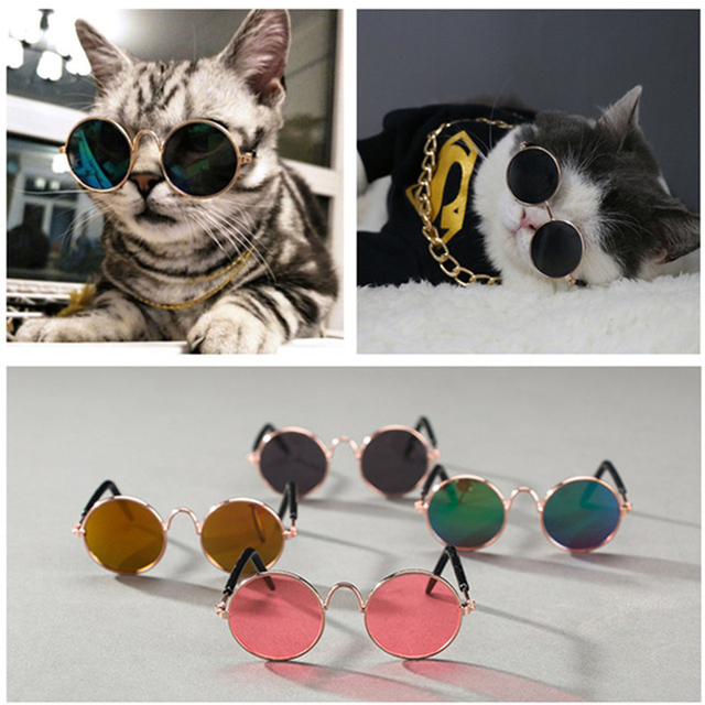 Fashion Pet Dog Cat Gles For Products Eye Wear Sungles Photos Props