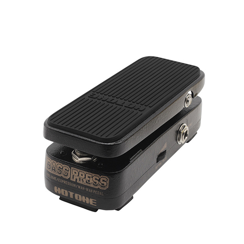 Hotone Bass Press 3 in 1 Volume/Expression/Wah-Wah Bass Guitar Effect Pedal + Free Power Adapter & Patch Cable hotone soul press volume expression wah wah guitar pedal cry baby sound