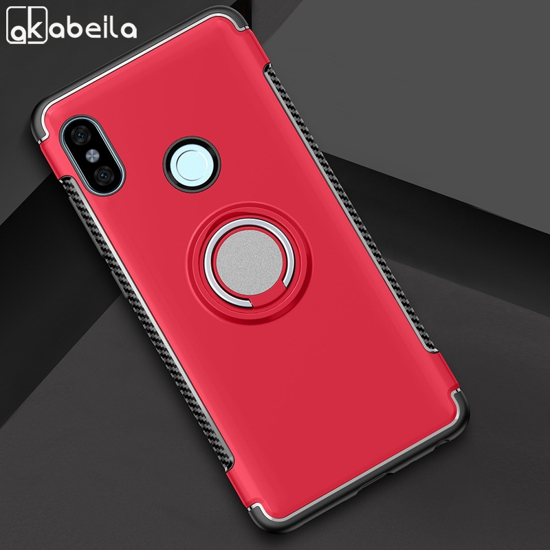 AKABEILA Case For XIAOMI 8 Cases For XIAOMI REDMI NOTE 5 Pro Covers Finger Ring Car Magnet Protector Kicksatnd Phone Shell Bags