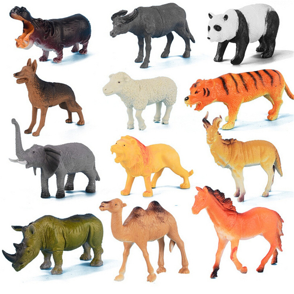 Search For Flights 40pc Kids Childrens Assorted Plastic Toy Wild Animals Jungle Zoo Figure Learning & Education