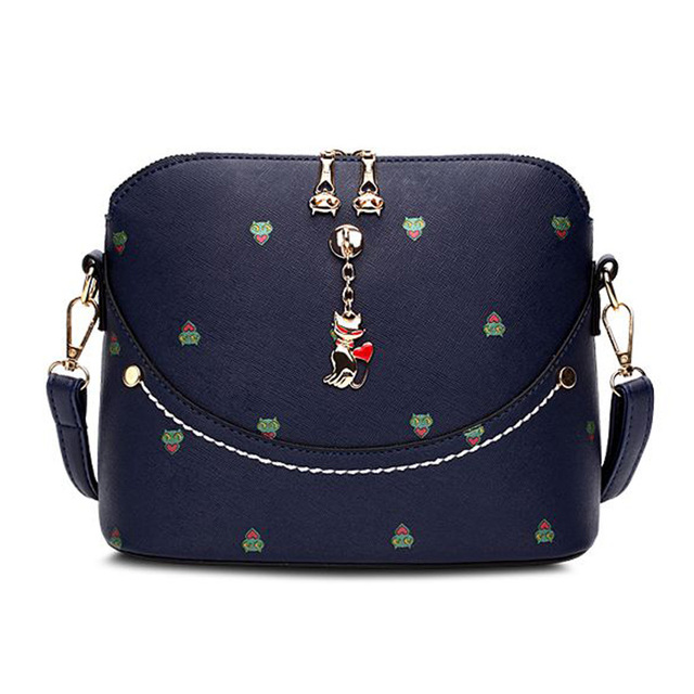 Pretty Women Messenger Bags Vintage Cartoon Girls Handbag Black ...