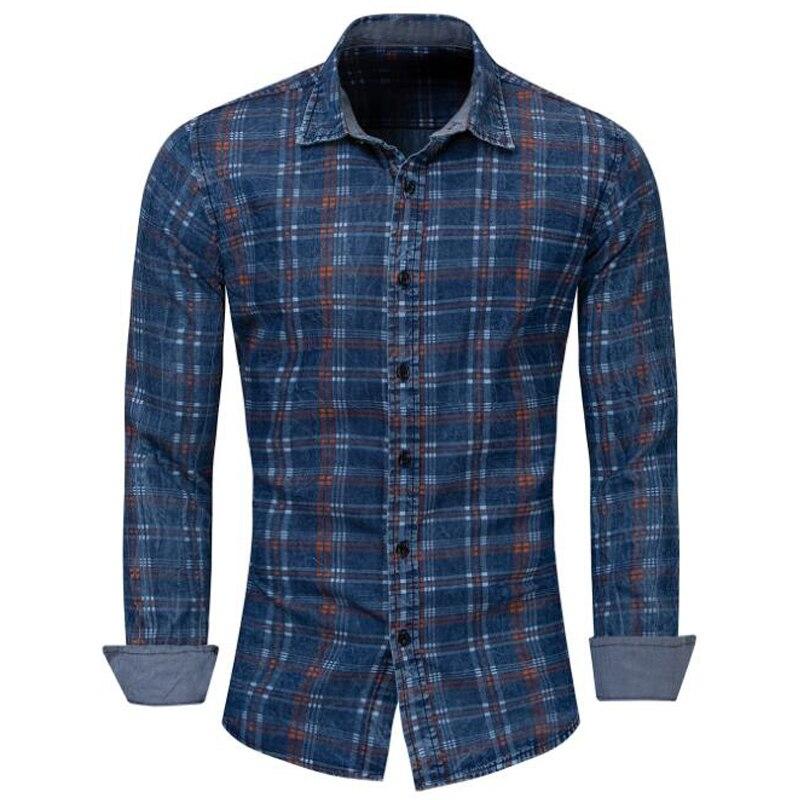 Men's shirts Spring autumn plaid men's shirts High quality cotton long sleeve business casual shirt men camiseta masculina