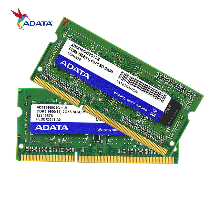 ADATA DDR3 Memory RAM 8GB 4GB 2GB 1600MHz DDR DDR3L