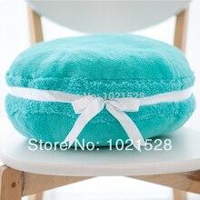 37cm Tiffany Blue Plush Macaron Cushion Pillow Sofa Decorative Cookie Plush Pillow Home Decor Birthday Gift