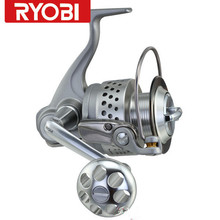Free shipping RYOBI SAFARI 4.9:1/7BB Aluminum spool surf fishing reel for big sea fish carretes pesca spinning moulinet peche