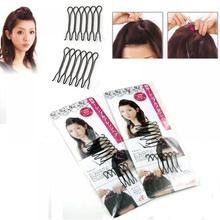 NEW Style Fashion 2 Pack Japan Style Bangs Styling Clips Tools Front Black Hair Comb Clips Hot Sale for women