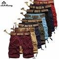 Nueva Llegada 2017 Camuflaje Del Ejército de Carga Pantalones Cortos de Verano de Algodón de Los Hombres Ocasionales de Los Hombres Militares Cortos Multi-bolsillos Pantalón No cinturón