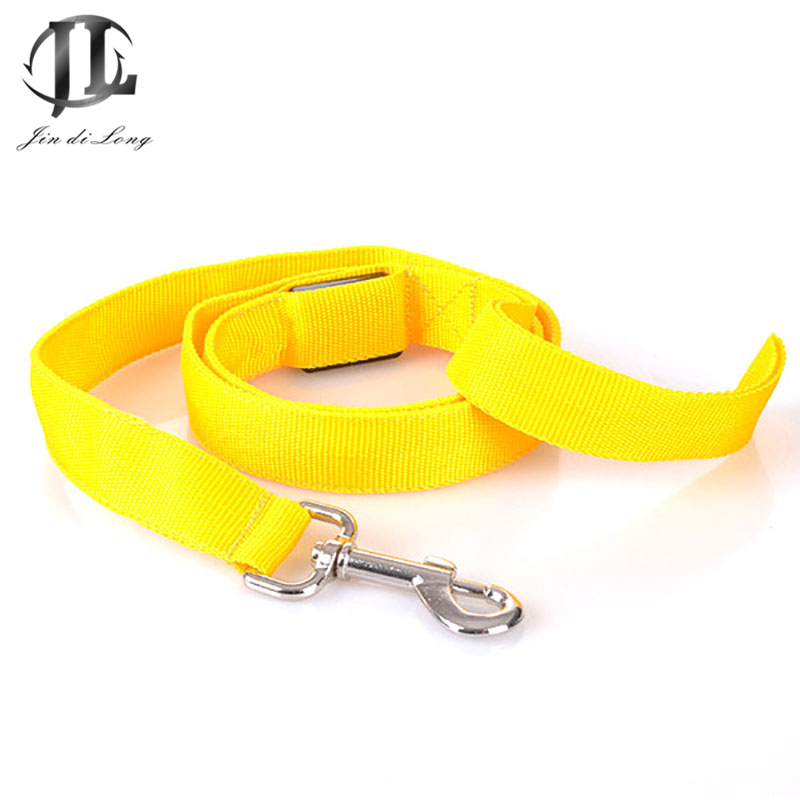 5 Piece/ Set High Quality 100% Polyester Fabric Nigh Lighting Luminous Colorful Light Candy Color Safty Training Dog Lead Rope
