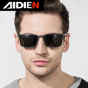 Image 3 - Men Myopia sunglasses with diopter polarized  prescription glasses retro anti glare driving sun glasses UV400 square black shade