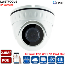 Micro IP Camera LWIRDNS200S IP67 built-in SD Card slot 2MP IP Camera POE camera Security Camera Indoor outdoor Support Onvif P2P