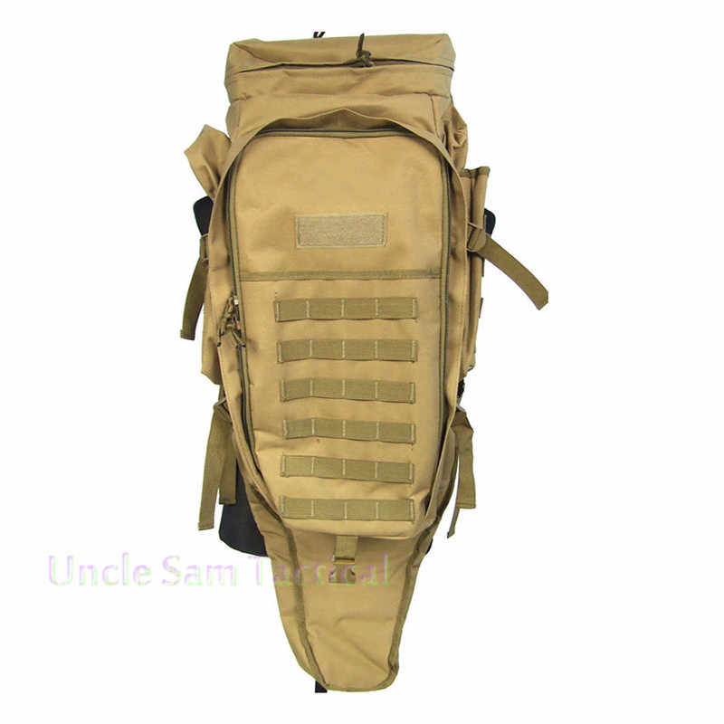 56516f2e11d2 Tactical Rifle Carry Backpack Airsoft Paintball Hunting Bags Tactical  Extended Full Gear Dual Rifle Gun Bag