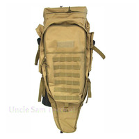 Tactical Rifle Carry Backpack Airsoft Paintball Hunting Bags Tactical Extended Full Gear Dual Rifle Gun Bag 70L