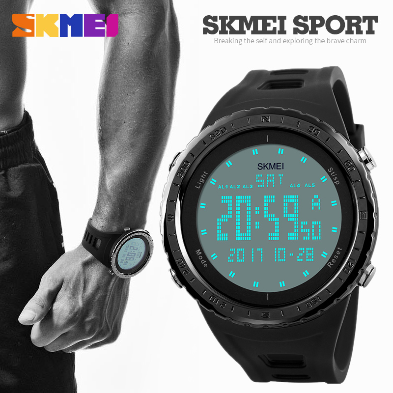 SKMEI Hot Brand Luxury Men Sport Watches Fashion Outdoor LED Digital Army Military Watch Male Clock Waterproof Men Wrist watch skmei mens watches top brand luxury led digital wrist watch men waterproof fashion military outdoor sport clock men s wristwatch