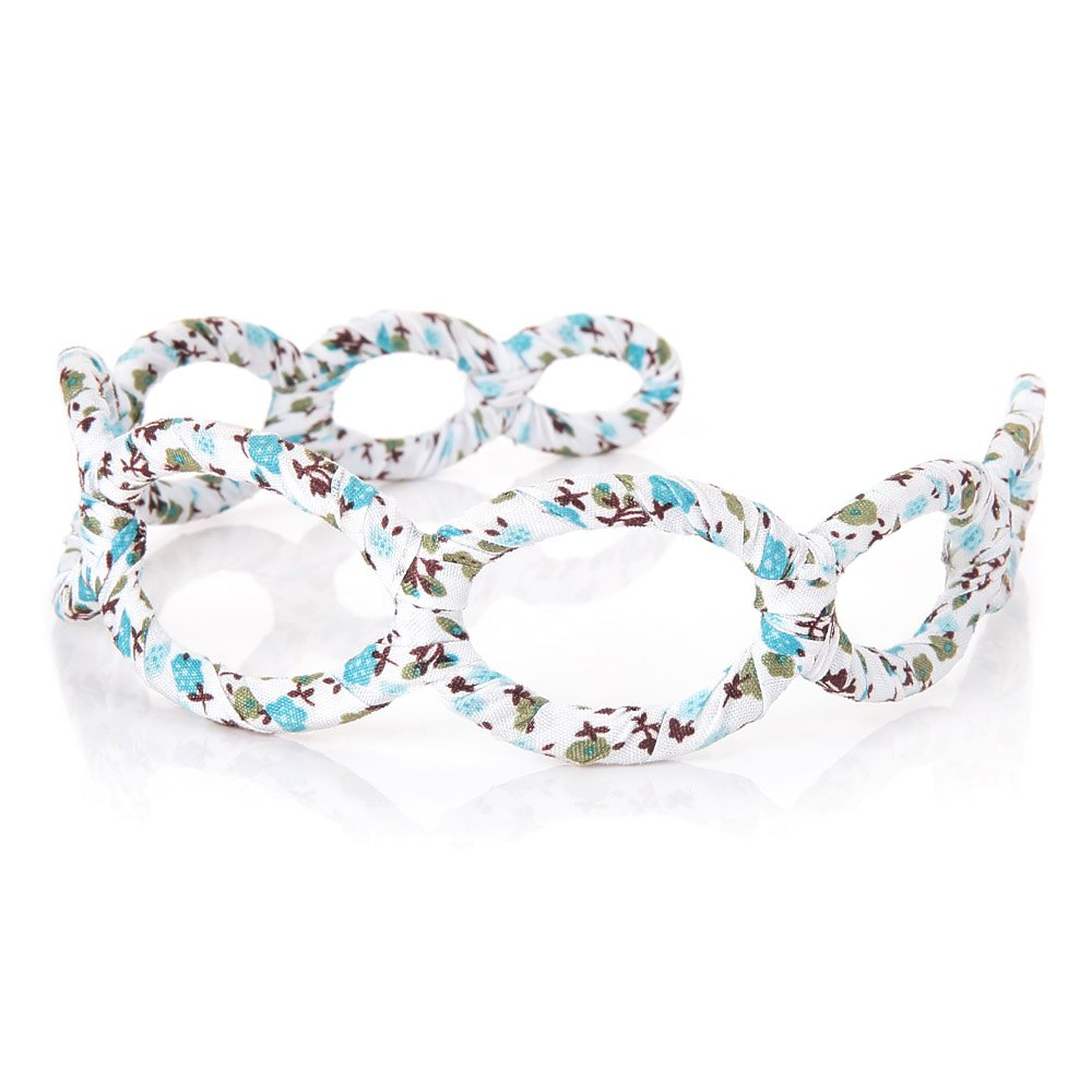 Women Charming All-Match Floral Hollow Ring Cloth Hair Hoop Accessory Hoops 1685929