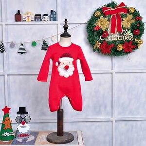 Image 4 - Ropa a juego para toda la familia, suéter de Navidad, ropa de ciervo para niños, camiseta para niños con lana, ropa cálida para la familia, Invierno 2019