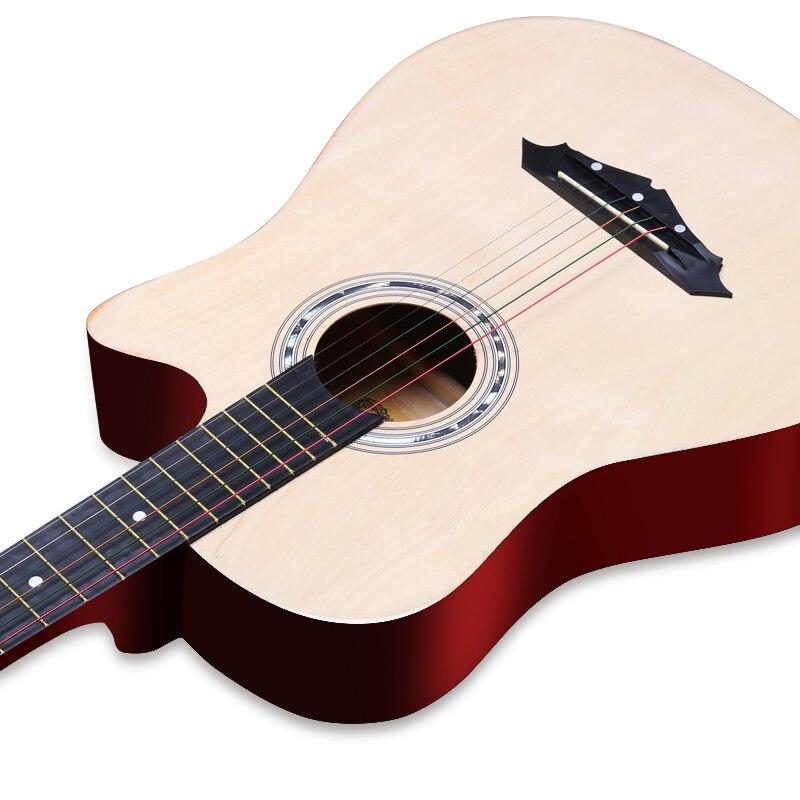 Free shipping 38 Inch Beginner Introduction Ballad Luck Wood Guitar Novice Practice Musical Instrument Men Women Student Jita