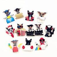 new-1pcs-harajuku-cartoon-pin-animal-dog-cat-motorcycle-badge-acrylic-brooches-pin-badges-backpack-clothing-decoration-brooches
