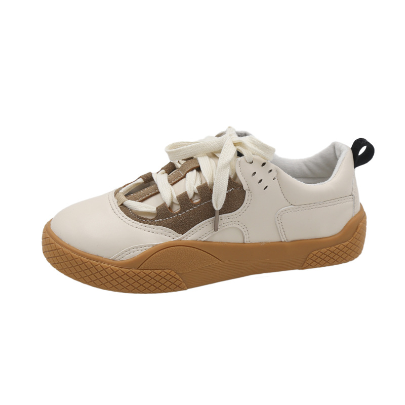 2019 Women Sneakers Leather Hook Loop All Match Female Casual Shoes Concise Style Lady White Shoes Students New Fashion 35-39 24