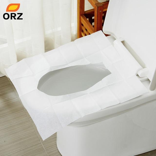 ORZ 10Packsu003d100Pcs Disposable Toilet Seat Cover Mat Waterproof Travel  Portable Toilet Paper Pad Travelling