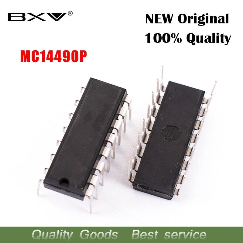 5pcs/lot MC14490P DIP-16 MC14490 DIP16 MC14490PG  New Original