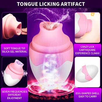 Oral Clitoris Tongue Sex Vibrator Nipple Sucker massage Vibrators Breast Enlarge Clitoris Stimulator Adult Sex Toys for Women 2