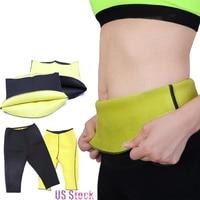 Body Shaper Neoprene Sauna Sweat Women Pants Belt Slimming Fitness Super Stretch Panties Waist Trainer Cincher
