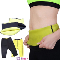 Body Shaper Neoprene Sauna Sweat Women Pants Belt Slimming Fitness Super Stretch Panties Waist Trainer Cincher