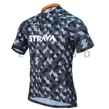 2019 STRAVA Mens short sleeve cycling jerseys Wave point Bike Clothing shirts MTB Quick dry Bicycle Wear Ropa Ciclismo