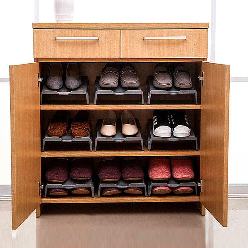 Dikke dubbele schoenenrekken Moderne schoonmaak Opbergschoenen Rek - Home opslag en organisatie - Foto 4