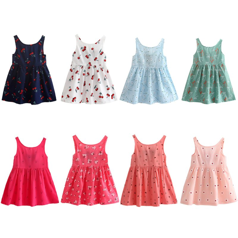 Hot!Kids Sundress Princess Dresses Shirt Baby Girls Summer Cotton Vest Dress Hot Styles voro beve princess sundress summer new 2017 fashion children clothes baby girl dress cartoon print cotton sundress