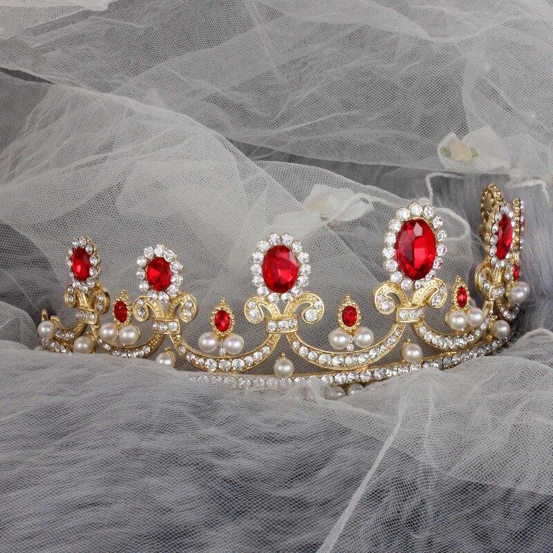 New-Sale-Europe-Style-High-quality-Red-Opal-Women-Elegant-Luxurious-Wedding-Bridal-Crown-Headwear-Wedding (5)