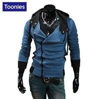 Hoodies Sweatshirt Male Zipper Coat New Brand Clothing Hooded Hoodie Men 5 Colors Slim Tracksuit Sudaderas