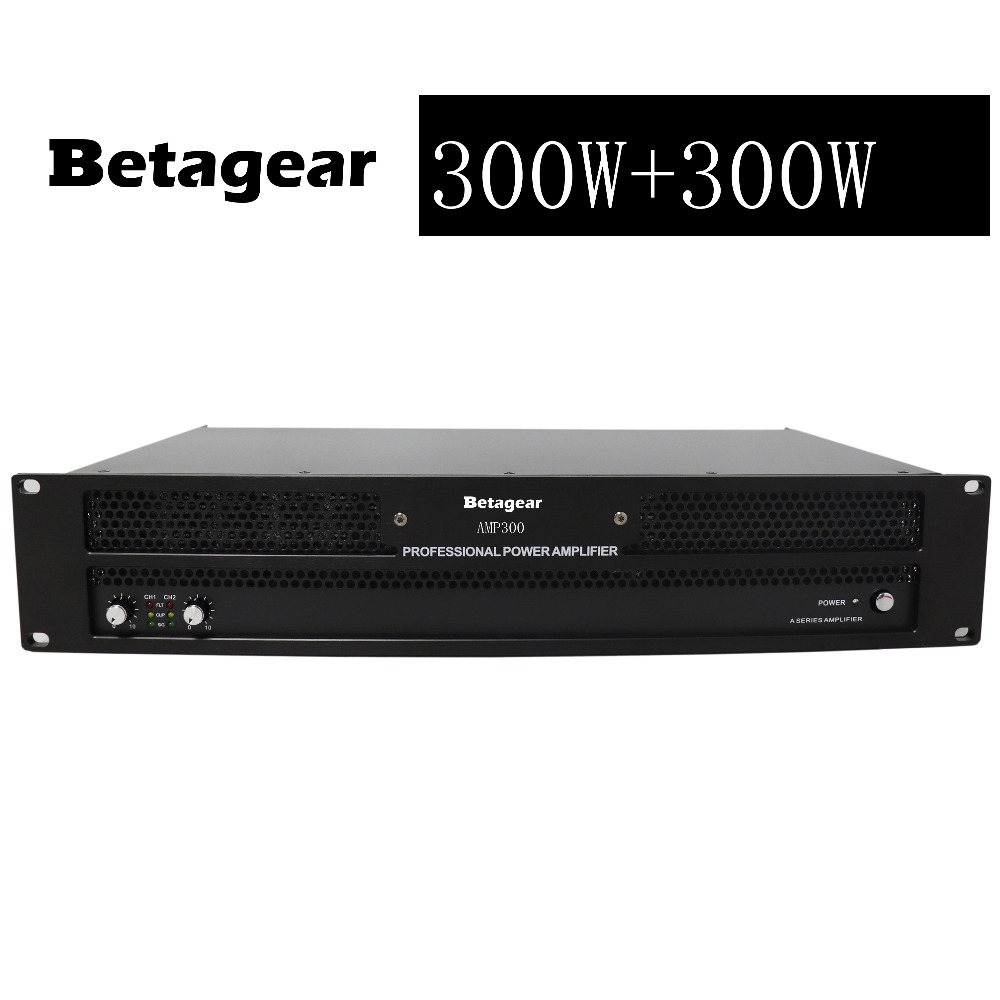 Betagear AMP300 Professional amplifier 350W+350W power amplifier 600W *2 @4ohm pro audio equipment dj sound system audio amp