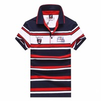 polo shirt men polo men shirt Lapel stripe embroidery Cotton poloshirt Tace&shark polo shirt man plus size short sleeve
